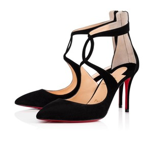 Christian Louboutin Classic Heels Classics Suede Point-toe Black Pumps
