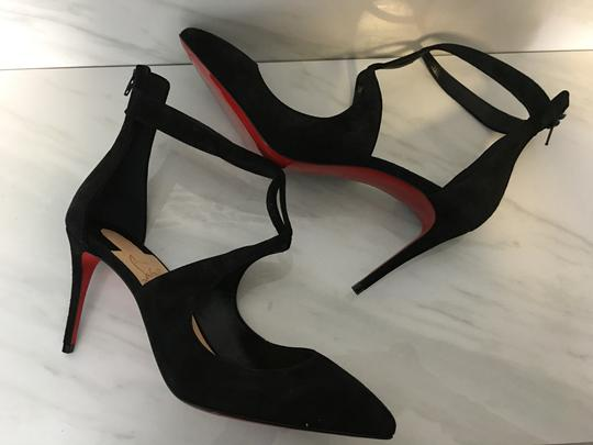 Christian Louboutin Classic Heels Classics Suede Point-toe Black Pumps Image 2