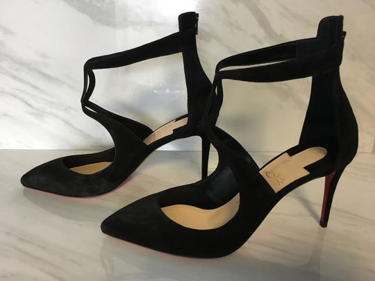 Christian Louboutin Classic Heels Classics Suede Point-toe Black Pumps Image 3