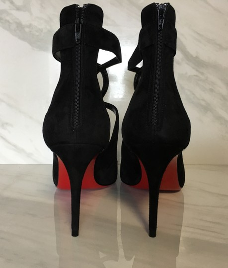 Christian Louboutin Classic Heels Classics Suede Point-toe Black Pumps Image 8