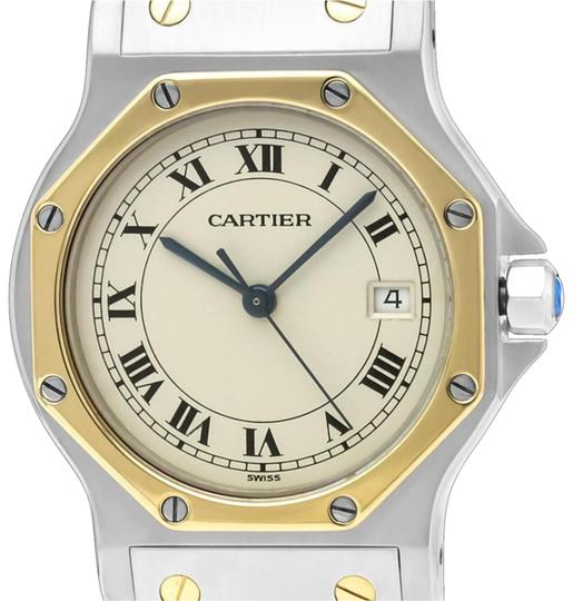 Preload https://img-static.tradesy.com/item/25317889/cartier-ivory-santos-octagon-mens-midsize-unisex-quartz-stainless-st-watch-0-1-540-540.jpg