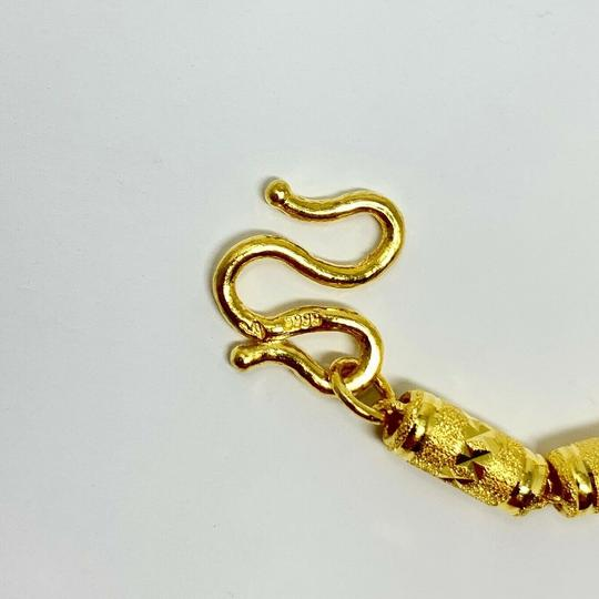 Other 24k Solid Gold 37.9g Diamond Cut Cylinder Link .9999 Necklace 20