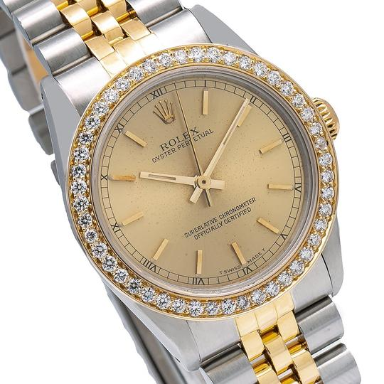 Rolex Rolex Oyster Perpetual 67513 31MM Champagne Dial With 1.05 CT Diamonds Image 2