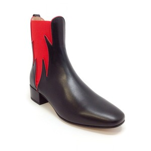 Francesco Russo Black / Red Boots
