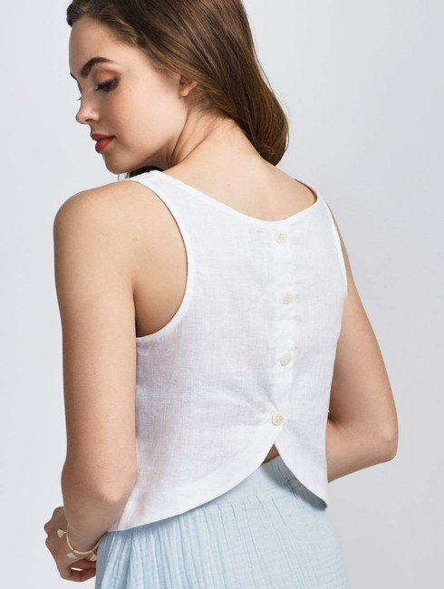 Coast Sleeveless Summer Preppy Casual Classic Top White Image 1