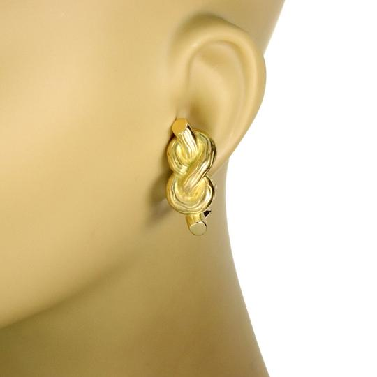 Other Angela Cummings 18k Yellow Gold Sailor Knot Clip On Earrings Image 1