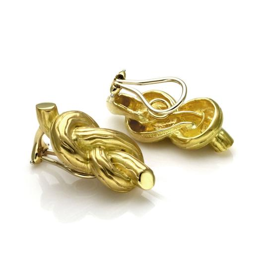 Other Angela Cummings 18k Yellow Gold Sailor Knot Clip On Earrings Image 2