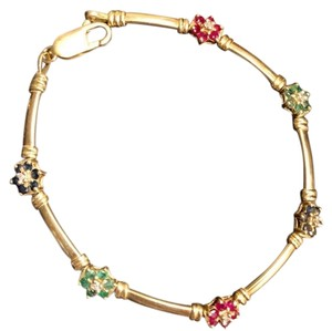 Other 14K yellow Gold With sapphires, Rubies, Diamonds, Emeralds.