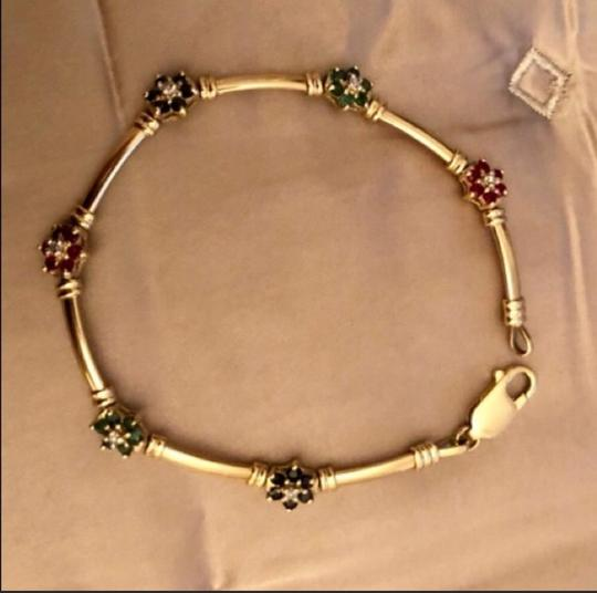 Other 14K yellow Gold With sapphires, Rubies, Diamonds, Emeralds. Image 3