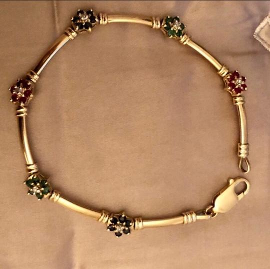 Other 14K yellow Gold With sapphires, Rubies, Diamonds, Emeralds. Image 5