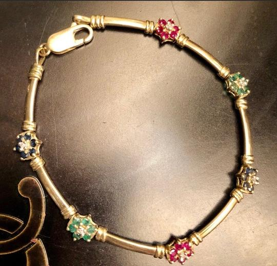 Other 14K yellow Gold With sapphires, Rubies, Diamonds, Emeralds. Image 6