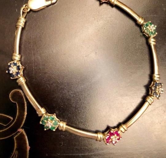 Other 14K yellow Gold With sapphires, Rubies, Diamonds, Emeralds. Image 7
