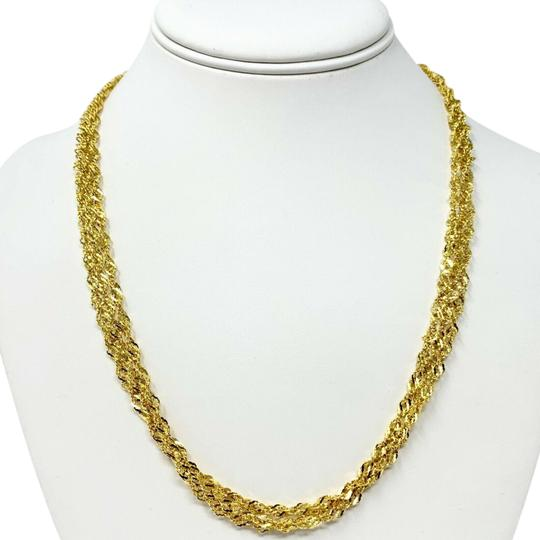 Preload https://img-static.tradesy.com/item/25318022/14k-gold-sparkle-mesh-triple-strand-twisted-rope-chain-20-necklace-0-1-540-540.jpg