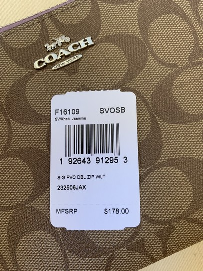 Coach Double Zip Wallet F16109 Wristlet in Multi Image 11
