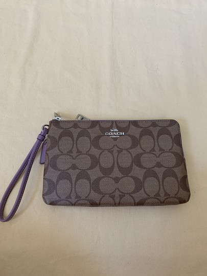 Coach Double Zip Wallet F16109 Wristlet in Multi Image 4