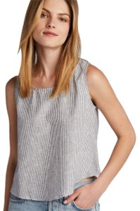 Coast Sleeveless Casual Classic Linen Top Lapis Stripe