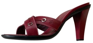 Tod's Burgundy Sandals