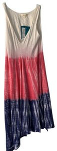 Eco skin short dress Red white and blue on Tradesy