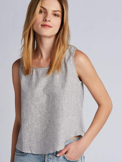 Coast Sleeveless Summer Linen Casual Top Sandstone Stripe Image 1