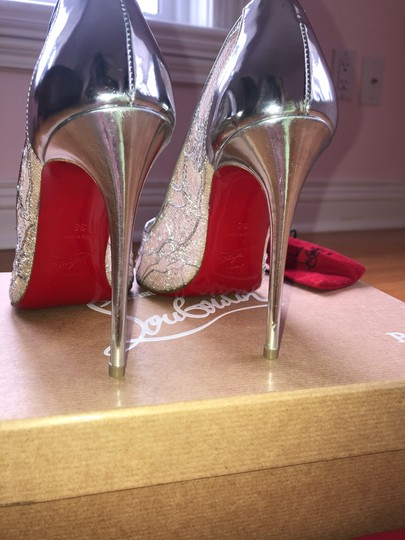 Christian Louboutin Silver Pumps Image 3