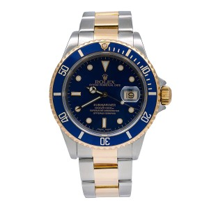 Rolex Rolex Submariner Date 16613 40MM Blue Dial With Two Tone Bracelet