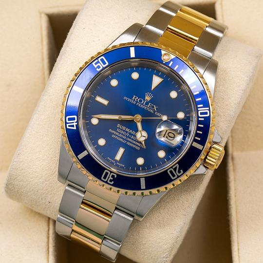 Rolex Rolex Submariner Date 16613 40MM Blue Dial With Two Tone Bracelet Image 1