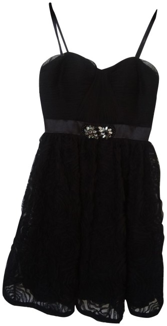 Item - Black Evening Short Formal Dress Size 4 (S)