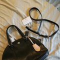 Coach Elegant Saffiano Leather Domed Satchel in Black Image 6