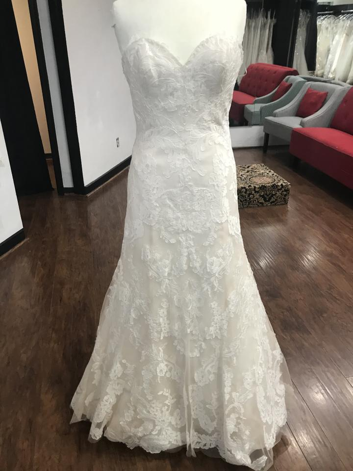 Wtoo Oatmeal Lace 15130 Formal Wedding Dress Size 6 S 47 Off Retail