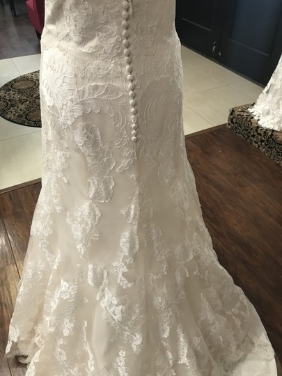 Wtoo Oatmeal Lace 15130 Formal Wedding Dress Size 6 (S) Image 4