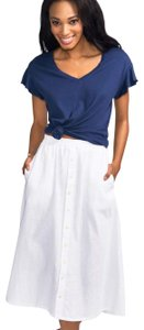 Coast Casual Spring Summer Classic Skirt White