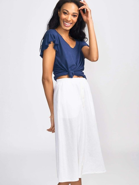 Coast Casual Spring Summer Classic Skirt White Image 1