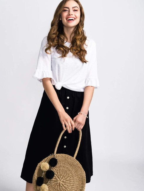 Coast Casual Spring Summer Classic Skirt White Image 2