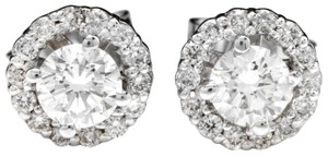 Other .75Ct Natural Diamond 14k Solid White Gold Earrings