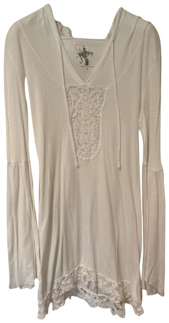 Item - White Lace Embroidered with Hood Cover-up/Sarong Size 2 (XS)