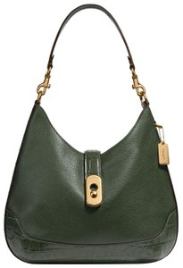Coach Pebbled Leather Leather Two Way Timeless Elegant Hobo Bag