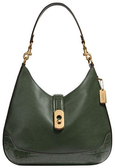 Coach Pebbled Leather Leather Two Way Timeless Elegant Hobo Bag Image 0
