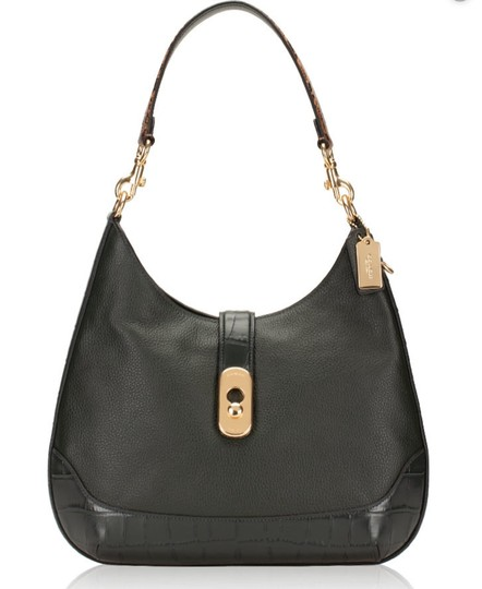 Coach Pebbled Leather Leather Two Way Timeless Elegant Hobo Bag Image 1