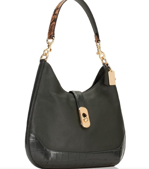 Coach Pebbled Leather Leather Two Way Timeless Elegant Hobo Bag Image 2