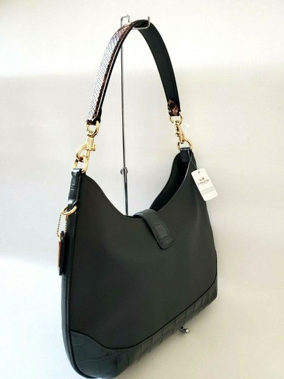 Coach Pebbled Leather Leather Two Way Timeless Elegant Hobo Bag Image 3