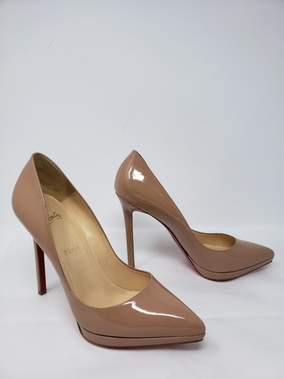 Christian Louboutin Pigalle Pigalle Plato Patent Leather So Kate Pointed Toe Beige Pumps Image 1