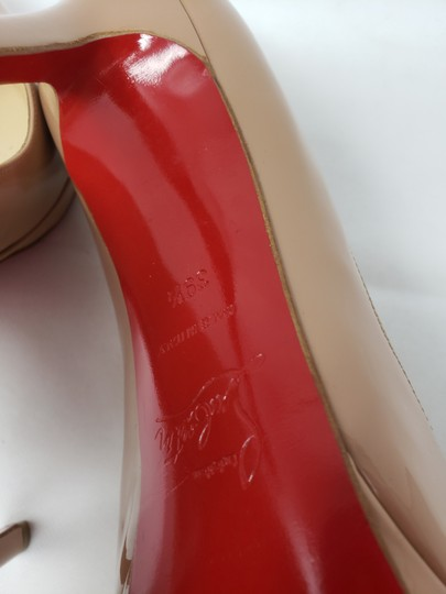 Christian Louboutin Pigalle Pigalle Plato Patent Leather So Kate Pointed Toe Beige Pumps Image 10