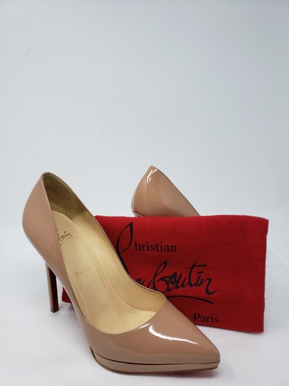 Christian Louboutin Pigalle Pigalle Plato Patent Leather So Kate Pointed Toe Beige Pumps Image 11