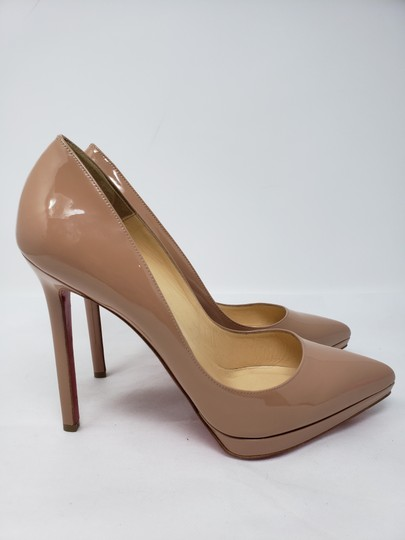 Christian Louboutin Pigalle Pigalle Plato Patent Leather So Kate Pointed Toe Beige Pumps Image 2