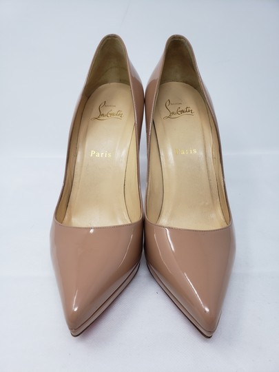 Christian Louboutin Pigalle Pigalle Plato Patent Leather So Kate Pointed Toe Beige Pumps Image 3