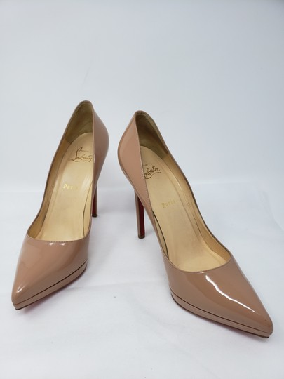 Christian Louboutin Pigalle Pigalle Plato Patent Leather So Kate Pointed Toe Beige Pumps Image 4