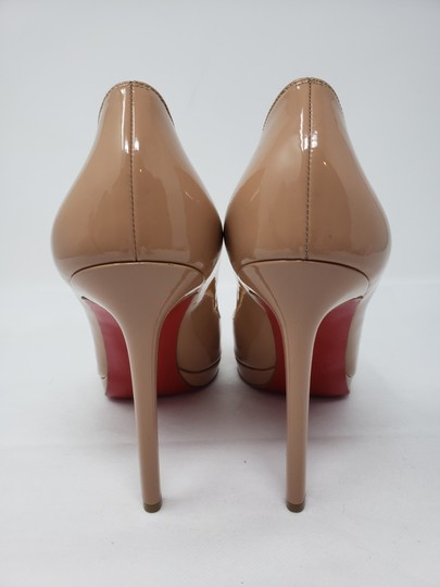 Christian Louboutin Pigalle Pigalle Plato Patent Leather So Kate Pointed Toe Beige Pumps Image 5