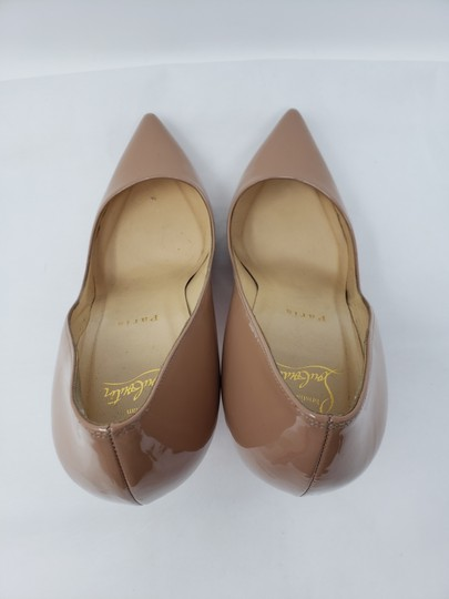 Christian Louboutin Pigalle Pigalle Plato Patent Leather So Kate Pointed Toe Beige Pumps Image 6
