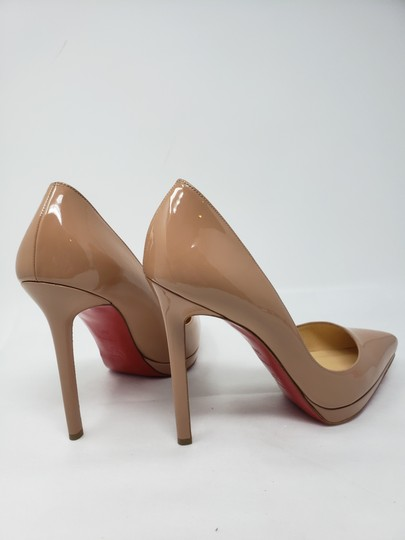 Christian Louboutin Pigalle Pigalle Plato Patent Leather So Kate Pointed Toe Beige Pumps Image 7
