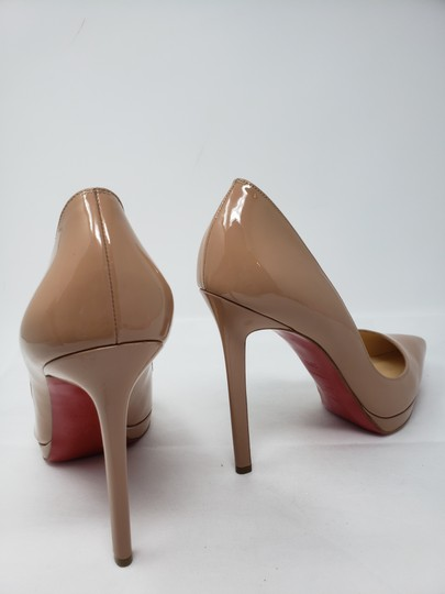 Christian Louboutin Pigalle Pigalle Plato Patent Leather So Kate Pointed Toe Beige Pumps Image 8